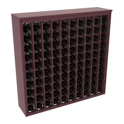 Wine Racks America - 100 Bottle Deluxe Wine Rack in Ponderosa Pine, Burgundy Stain + Satin Finish - This wooden wine rack functions well as either a freestanding wine rack furniture or as part of a complete wine cellar design. Solid top and side enclosures promote the cool and dark storage area necessary for aging your wine properly. Your satisfaction and our racks are guaranteed.
