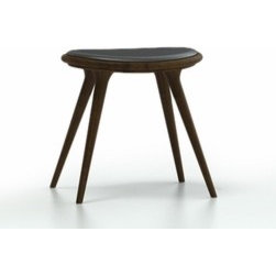 Mater - Mater | Stained Hardwood Space Stool, Low - Design by Signe Bindslev Henriksen and Peter Bundgaard Rützou of Space.