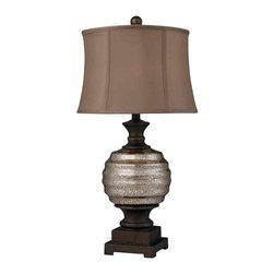 Dimond Lighting - Dimond Lighting D2308 Grants Pass Antique Mercury Glass Table Lamp - Dimond Lighting D2308 Grants Pass Antique Mercury Glass Table Lamp
