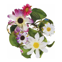 """Oddity - Oddity 1"""" Daisy Candle Ring Pack 6 - Darling daisies in pink, purple and white are the perfect complement to spring. Your home decor will transform from winters darkness to springs cheerful brightness with this lovely daisy collection."""
