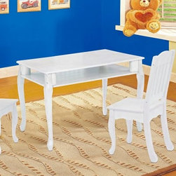 Teamson Design Windsor Rectangular Table and Chair Set - The adults will want to sit at the kids' table at your next family gathering when you have the Teamson Windsor Rectangular Table and Chair Set. The graceful curves of the legs and the beautiful hand-painted finish in espresso, honey, or white make this set an attractive addition to any child's room. The high quality, sturdy construction of this set ensure that it will last for years. This table and chair set includes two chairs. Additional chairs are available for purchase. Some assembly is required, and instructions are included. The table measures 31.5L x 23.5W x 22.5H inches, and the chairs measure 14 1/8L x 11.5W x 27H inches. This set is intended for children ages 3 to 8.About Teamson DesignBased in Edgewoood, N.Y., Teamson Design Corporation is a wholesale gift and furniture company that specializes in handmade and hand-painted kid-themed furniture collections and occasional home accents. In business since 1997, Teamson continues to inspire homes with creative and colorful furniture.