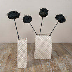 None - Saro Black 24-inch Rose Sticks (Set of 4) - Fun and decorative,this black set of rose sticks from Saro will add a stylish touch to your space. This set includes four stems.