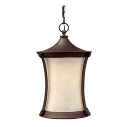 Hinkley - Hinkley 1282VZ Thistledown Collection 1 Light Outdoor Pendant in Victorian Bronz - Lighting is the final touch in decorating your surroundings. With Hinkley Lighting, you'll find the perfect reflection of you. You are looking at a transitional hanger outdoor from the thistledown family.ADA Compliant: No Bulb Type: Medium Certification: C-ETL-US Damp Chain: 60 Collection: Thistledown Energy Star Compliant: No Finish: Victorian Bronze Glass: Amber Linen Height: 20-3 4 Leadwire: 72 Number of lights: 1 Socket 1 Base: MEDIUM Socket 1 Max Wattage: 100 Title 24 Compliant: No Type: Outdoor Pendant Voltage: 120 Wattage: 100 Weight: 8 Width: 12-3 4
