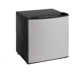 Avanti - Avanti 1.4 Cubic Foot Dual Refrigerator Freezer - Store snacks and drinks in any room of the home with this spacious compact refrigerator freezer. This unit can hold both chilled and frozen foods without requiring much space. Rounded edges and a sleek platinum finish give this appliance style.