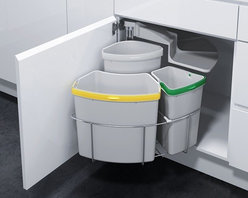 Kitchen Trash & Recycling OKO-2 - Oeko Waste Center for under your sink cabinet for your kitchen, laundry or even your garage.
