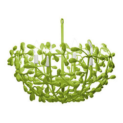 Landon Chandelier - Don't you just love the thought of some handmade paper mache vines growing from your ceiling? Me too.