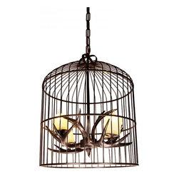ParrotUncle - Rustic Bird Cage Resin Antler Candle Chandelier - Rustic Bird Cage Resin Antler Candle Chandelier