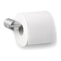 Blomus - DUO Toilet Paper Holder (Rod) - The DUO Toilet Paper Holder by Stotz Design will add an elegant touch to any bathroom. Its modern, geometric design keeps things easy with its open-ended holder, making paper replacements quick and hassle-free.