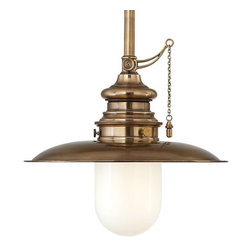 Hudson Valley Lighting - Hudson Valley Lighting 8815-AGB Pendant Light in Aged Brass - Hudson Valley Lighting 8815-AGB Kendall Collection Transitional Pendant Light in Aged Brass