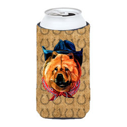 Caroline's Treasures - Chow Chow Dog Country Lucky Horseshoe Tall Boy Koozie Hugger - Chow Chow Dog Country Lucky Horseshoe Tall Boy Koozie Hugger Fits 22 oz. to 24 oz. cans or pint bottles. Great collapsible koozie for Energy Drinks or large Iced Tea beverages. Great to keep track of your beverage and add a bit of flair to a gathering. Match with one of the insulated coolers or coasters for a nice gift pack. Wash the hugger in your dishwasher or clothes washer. Design will not come off.