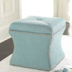Montego Ottoman - This gorgeous Montego Ottoman also doubles as a storage cube-- Perfect for apartment living.