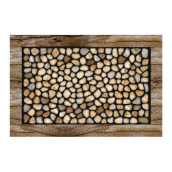 BuyMATS Inc. - Stone Garden Doormat - •Exciting full color design Indoor/Oudoor Entry MAT with built in channels provide high fashion appeal.