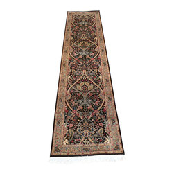 2'7 x 10'2 Pak-Persian William Morris Rug - A Kashan Rug is a type of Persian Rug from the area of Kashan.   Kashan is a city in Isfahan Province in North Central Iran. There was production of Persian Carpet at Royal workshops in the 17th and early 18th century. The Persian Carpet workshops ceased production in about 1722 after the Afghan invasion.
