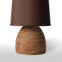 Barbara Cosgrove Basket Bee Hive Table Lamp - This gorgeous rattan lamp will add texture, shape and light to any room in your house. It's a great piece for a coastal cottage or to bring modern coastal cottage style to any home. Because of it's simple yet unexpected shape, it can work well in a contemporary room.