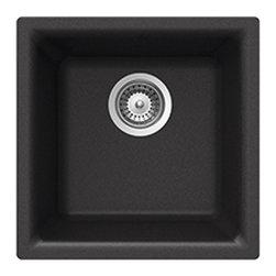 Houzer Cristalite N-100 NERO Euro Series Dual Mount Bar/Prep Sink - NERO -