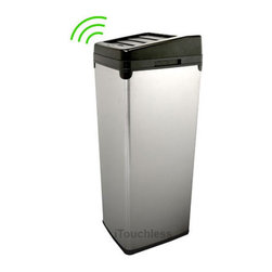 iTouchless - Automatic Stainless Steel 52 literTouchless Trashcan - 52 Liter Touchless Trashcan SX model uses the latest sensor technologyGarbage can features patented space saving lid opening design100 touch-free trash can creates a germ free, odor free, automated environment