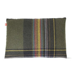 Maharam - Maharam Pillow in Glen, 18x26 - For his fifth textile for Maharam, fashion designer Paul Smith moved beyond stripes, designing Exaggerated Plaid, which is inspired by Scottish heritage and executed with a modern sensibility by deliberately composing three distinct plaids of varying density in unexpected colors, like loden, crimson and fuchsia. Exaggerated Plaid (2010) is 100% wool. This fabric offers reduced environmental impact and is Greenguard Children and Schoolssm certified for low chemical and particle emissions and may contribute to LEED certification. This fully licensed fabric is produced by Maharam Design Studio according to the designer's specifications. DWR Exclusive