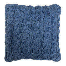 Vintage House by Park B. Smith - Denim Classic Cable Decorative Pillow - - This vintage house by park b. Smith 12 x 12-inch classic cable decorative pillow in denim adds a sophisticated look to any bedding ensemble or living room. This decorative pillow compliments our escondido coverlet, sundance or napa mini comforter sets. Spot clean only  - made in india  - items included in the set: 1 decorative pillow Vintage House by Park B. Smith - CLCA98-DEN