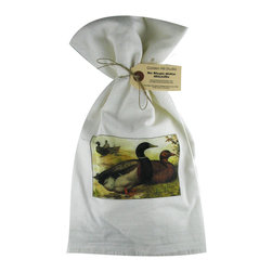 Rouen Ducks   Flour Sack Towel  Set of 2 - A fabulous set of 3 flour sack towels. This set features a lovely antique print of Rouen Ducks.   These towels are printed in the USA by American Workers!