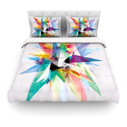 "Kess InHouse - Mareike Boehmer ""Colorful"" Rainbow Abstract Cotton Duvet Cover (Twin, 68"" x 88"") - Rest in comfort among this artistically inclined cotton blend duvet cover. This duvet cover is as light as a feather! You will be sure to be the envy of all of your guests with this aesthetically pleasing duvet. We highly recommend washing this as many times as you like as this material will not fade or lose comfort. Cotton blended, this duvet cover is not only beautiful and artistic but can be used year round with a duvet insert! Add our cotton shams to make your bed complete and looking stylish and artistic! Pillowcases not included."