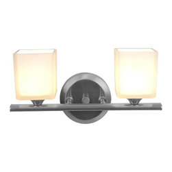 Access Lighting - Access Lighting Hermes 2-lt Wall/Vanity - Contemporary 2-lt wall/vanity in brushed steel finish. Available with opal glass.Close out prices. While supplies last