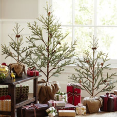 Contemporary Christmas Trees by Pottery Barn