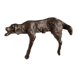 Cyan Design - Lazy Dog Sculpture - Lazy dog sculpture - bronze.