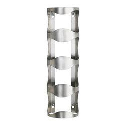 Karl Malmvall - VURM 4-bottle wine rack - 4-bottle wine rack, stainless steel