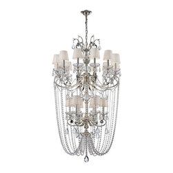 Eurofase Lighting - Eurofase Lighting 25761 Volante 18 Light Two Tier Crystal Chandelier - Features: