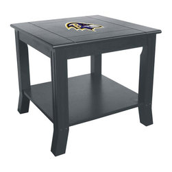 Imperial International - Baltimore Ravens NFL Side Table - Take a look at this great Side Table. It's a perfect accessory for your Man Cave, Game Room, Garage or Basement.