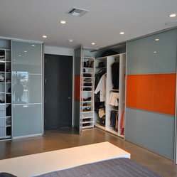 Modern Sliding Closet Doors - Whether installed as part of a larger closet system design or ...