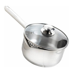 Wear Ever - WearEver A8342465 Stainless Steel 3-quart Sauce Pan - Indulge your culinary whims with top-quality WearEver pots and pansExperience the difference a steel 3-quart sauce pan makes to your cookingCook-n-Strain combines style,innovation,performance and rugged durability