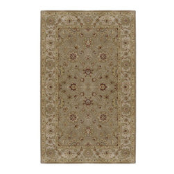 """Surya - Traditional Crowne Sample 1'6""""x1'6"""" Sample Dark Tan-Beige  Area Rug - The Crowne area rug Collection offers an affordable assortment of Traditional stylings. Crowne features a blend of natural Dark Tan-Beige  color. Hand Tufted of 100% Wool the Crowne Collection is an intriguing compliment to any decor."""