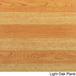 None - Nexus 12 x 12 Inch Self-adhesive Vinyl Floor Tile - Give your home interior an updated look with this self-adhesive vinyl floor tile. Easy to install with just a peel and stick method,these wood grain tiles. Perfect for use in your kitchen,dining room,bed/ bathroom,basement and more.