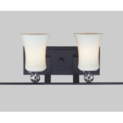 Z-Lite - Z-Lite 604-4V Harmony 4 Light Bathroom Vanity Light in Matte Black - White shades and crystal spheres are contrasted with matte black fixtures in this contemporary traditional mix creating a harmony of light and style.