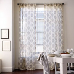Silk Paisley Window Panel | west elm