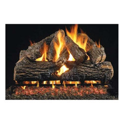 RH Peterson Gas Logs - RH Peterson Charred Series Oak Logs - You can hardly believe that these amazing charred oak series fireplace logs are not the real thing.  From RH Peterson, these quality-made ceramic logs can be fueled by your choice of liquid propane or natural gas and are available in optional sizes as well. Amazing burned through look . Burners not included. Compatible with G4, G45 Burners, & G5, G45A, G46 ANSI certified burners. Uses natural or propane gas. Vented gas log. Made of refractory ceramics. Lifetime warranty