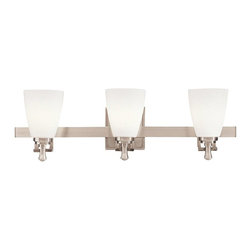 Kichler - Kichler Uptown Bathroom Lighting Fixture in Brushed Nickel - Shown in picture: Kichler Bath 3Lt in Brushed Nickel