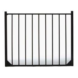 Specrail - Specrail Cheshire Aluminum Walk Gate 2-Rail Panel - 4 ft. Multicolor - GR9482A04 - Shop for Fencing and Fencing Materials from Hayneedle.com! Add the beauty and elegance of wrought iron to your home without the maintenance with the Specrail Cheshire Aluminum Walk Gate 2-Rail Panel - 4 ft.. Not only beautiful this gate also provides added security to your property. Constructed from strong and durable aluminum that is fully welded and will not rust with welded corner gussets which add strength to this already durable arched gate you can rest easy knowing this gate is made to last. It also has a maintenance-free design which means you won t have to worry about painting or staining. Two self-closing hinges and a pad-lockable gravity latch are included. Easy to install this gate is made to be used with the DIY Fence Universal Fence Post and DIY Fence Asbury 482 Fence Panel System. It is advised that you do not mix and match fence brands.Additional FeaturesDesigned to be used with DIY Fence Universal Fence PostUse with the DIY Fence Asbury 482 Fence Panel SystemNot advisable to mix and match fencing brandsAll welded construction is durable and strongGorgeous and functional gateWelded corner gussets add strengthIncludes 2 self-closing hingesAlso includes pad-lockable gravity latchMeets BOCA pool code requirements in most areasGives you the beauty of traditional wrought ironEasy to installAbout SPECRAILSPECRAIL has been designing aluminum products of the highest quality for over 50 years. They offer the widest selection of any ornamental aluminum fencing company and their extraordinary line includes 11 styles 4 grades and 5 colors. SPECRAIL brings beauty strength and a traditional wrought iron look to their maintenance-free aluminum fencing. Every piece they manufacture represents their strong commitment to meeting the needs of their customers and their dedication to quality.