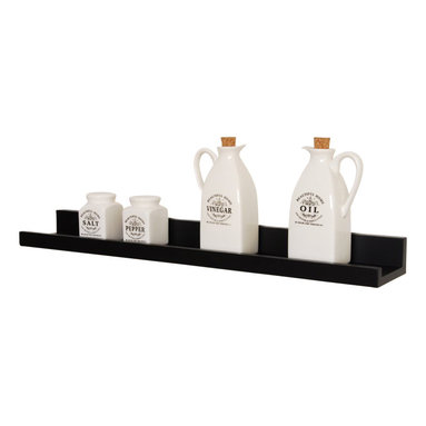 """Welland - Photo Ledge Picture Display Shelf 24"""" - No more sweating bullets every time a guest gets too close to your miniature teacup collection. This super skinny shelf with a handy front lip keeps your favorite photos and treasures secure. Or use it to display ornaments that are just a tad too fragile for the tree."""