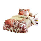 Le Vele - Summer Home Bedding, 6pc Duvet Cover Sheet Set Bed in a Bag, Full/Queen LE69Q - Sea shells and starfish is printer on a sand filled background to create a summery sensation of lazing on a tropical beach.