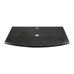 Decolav - Decolav 25W x 22D in. Lola Stone Vanity Top - 542983 - Shop for Bathroom Counter Tops from Hayneedle.com! The Decolav 25W x 22D in. Lola Stone Vanity Top a bathroom addition in your choice of black granite or Bianco marble is a fine selection for the space-conscious lavatory. This highly durable stone top trades in traditional design for something with a more modern flair. Forget about undermount sinks! The contemporary craftsmanship of this piece is perfect for vessels which rest over the counter itself. Out of the ordinary and sure to be a topic of discussion and overwhelming admiration this curved front vanity top is exactly what your bathroom needs to leap forward into the 21st century with confidence. Measuring 25W x 22D x .75H inches the Lola Stone Vanity Top also comes with a single pre-drilled hole for easy installation and can fit up to 17-inches above counter lavatory without overflow.About DecolavDecolav is a leading ADEX award-winning manufacturer of lavatories glass fixtures bath furniture vitreous china fixtures and more. Established in 2000 by founder Rob Mayer Decolav is today the industry leader in innovative bathroom furnishings and fixtures with an infrastructure comprised of entire teams of engineers and designers. Every item is crafted to the highest standard of excellence and executed in-house so that every step of production is closely monitored for a finished product that's deserving of the Decolav name. Residential hospitality and commercial markets have benefited greatly by this attention to detail and unbeatable pricing and you can find Decolav in many of the most renowned hotels in the world. Change the way you view the bathroom with Decolav!