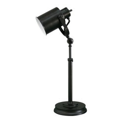 """Threshold Black Studio Can Table Lamp - We all have browsed popular home stores and seen """"studio"""" task lights for bundles of money. Threshold has a great version in their collection — and for quite a bit less money!"""