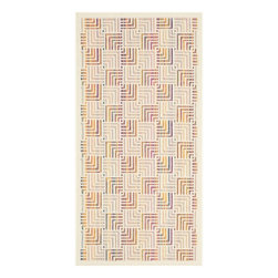 """Safavieh - Azura Indoor/Outdoor Rug, Natural / Multi 2'7"""" X 5' - Construction Method: Power Loomed. Country of Origin: Eqypt. Care Instructions: Easy To Clean. Just Rinse With A Garden Hose.."""