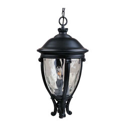 Maxim Lighting - Maxim Camden VX 3-Light Outdoor Hanging Lantern Black - 41429WGBK - Maxim Lighting's Camden VX Collection is made with Vivex, a material twice the strength of resin, is non-corrosive, UV resistant and backed with a 3-Year Limited Warranty. Camden VX is available in our Black or Golden Bronze finish and our Water Glass.