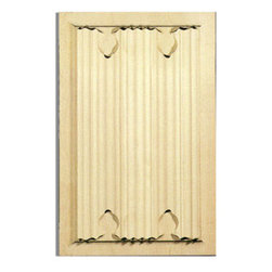 "Inviting Home - Lucia white oak door panel - hand carved door panel; 13-1/2""W X 21-1/4""H x 7/8""D Wood panels are hand carved from premium selected hardwoods: hard maple cherry and white oak. Panels are carved in deep relief design to achieve the highest degree of quality and details. Carved wood panels are triple sanded ready to accept stain or paint. These wood panels are perfect for wall applications cabinet doors finishing touches on the custom cabinets."