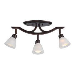 DVI LIghting - Dvi Lighting DVP9386ORB-WL 3 Light Track - DVI Lighting DVP9386ORB-WL 3 Light Track