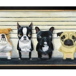 Artcom - The Lineup by Brian Rubenacker - The Lineup by Brian Rubenacker is a Framed Art Print set with a Basel Black and Gold wood frame.
