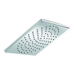 """Hansgrohe - Hansgrohe 27404001 Chrome Showerhead Square Shower Head Square Shower - Shower head Square Shower Head Only Rain Shower with 7"""" x 7"""" Spray FaceSolid brass 7"""" x 7"""" 1/2"""" female inlet 107 no-clog spray channels Features Rubit cleaning system"""