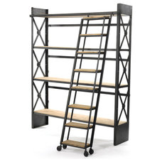 Industrial Bookcases by Indeed Decor
